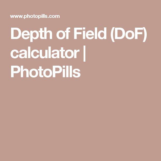 Depth of Field (DoF) calculator   PhotoPills