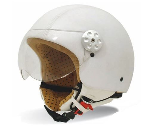 RETRO LEATHER WHITE MT HELMET - Google'da Ara