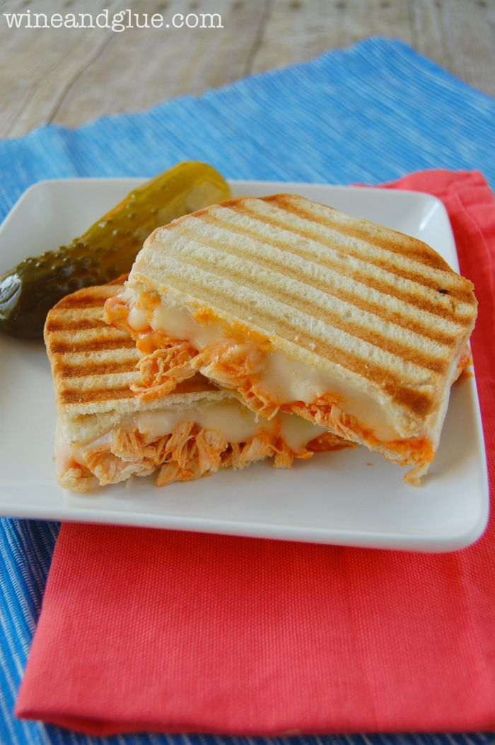 Buffalo Chicken Panini | A delicious and simple sandwich you won't be able to get enough of! via www.wineandglue.com