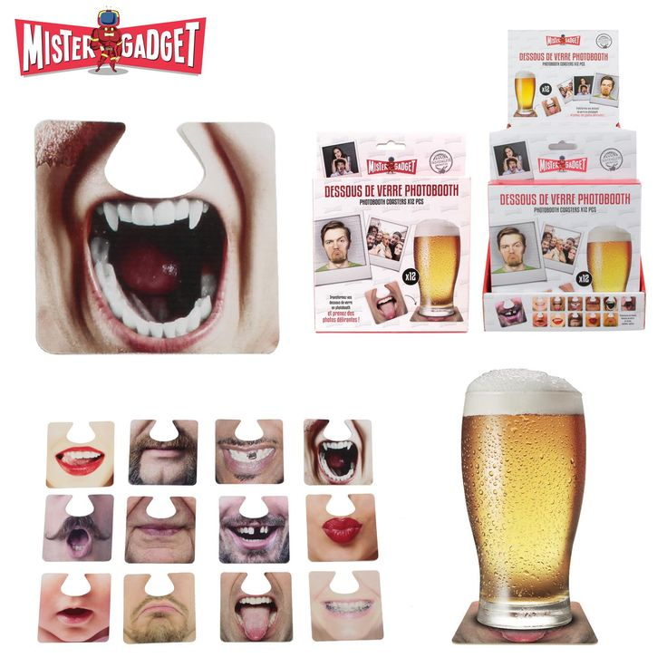 🌟NEW : sous-verres photobooth bouches 3.90€ http://ow.ly/UOF3305xGNs #apero #soiree