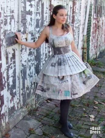 Платье из подручных материалов на тему весна