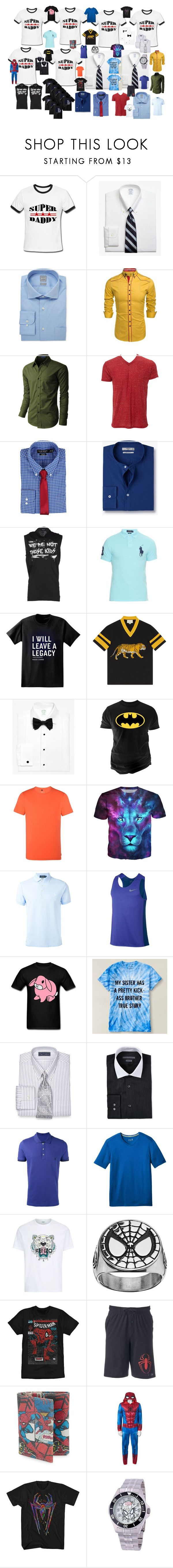 """""""Goodies For The Men"""" by airandearth on Polyvore featuring Brooks Brothers, Ike Behar, LE3NO, Simplex Apparel, Lauren Ralph Lauren, MANGO, Dsquared2, Polo Ralph Lauren, Paul Frank and Gucci"""