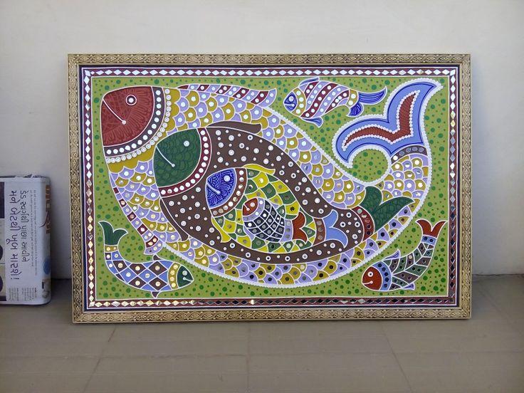 "Mud & mirror work, 24""*36"". Shakti art, madhapar, bhuj-kutch, gujarat, bharat, pn:-370020, mob:-9638658014."
