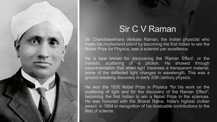 Sir C V Raman