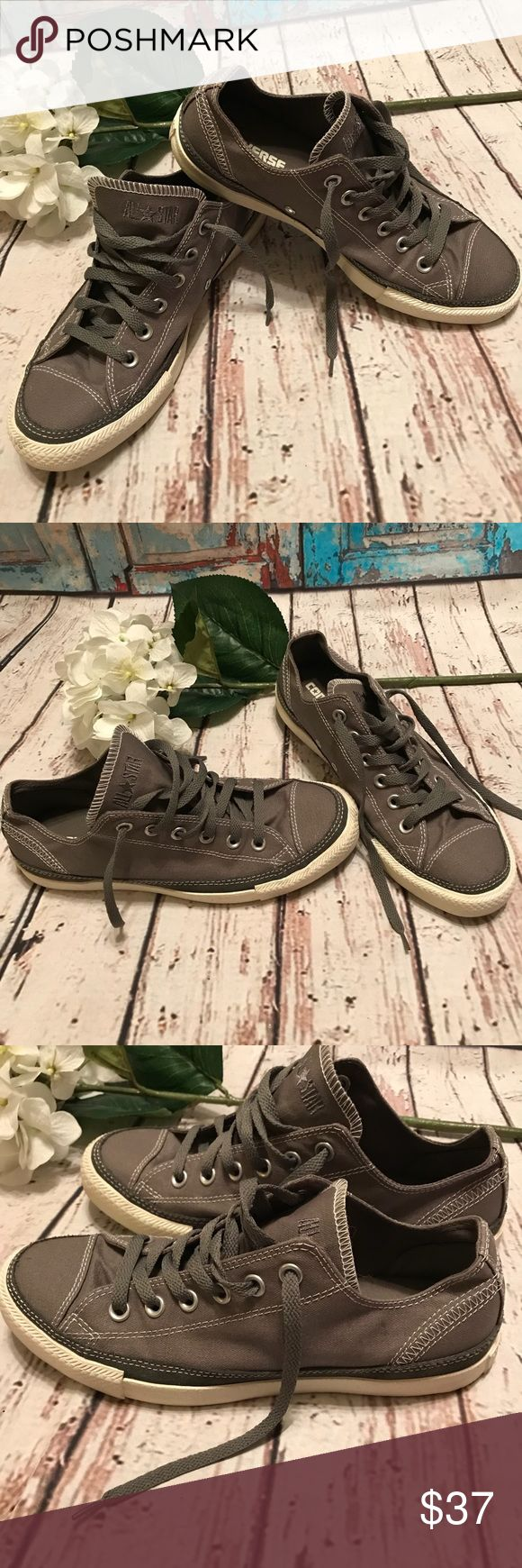 Converse Chucks Canvas & Suede Grey Allstars Converse Chucks Canvas & Suede Grey Allstars New without tags Size 9 Grey canvas with suede trim White decorative stitching White Raised Allstar lettering on the heel Gorgeous Chucks💕 Converse Shoes Athletic Shoes