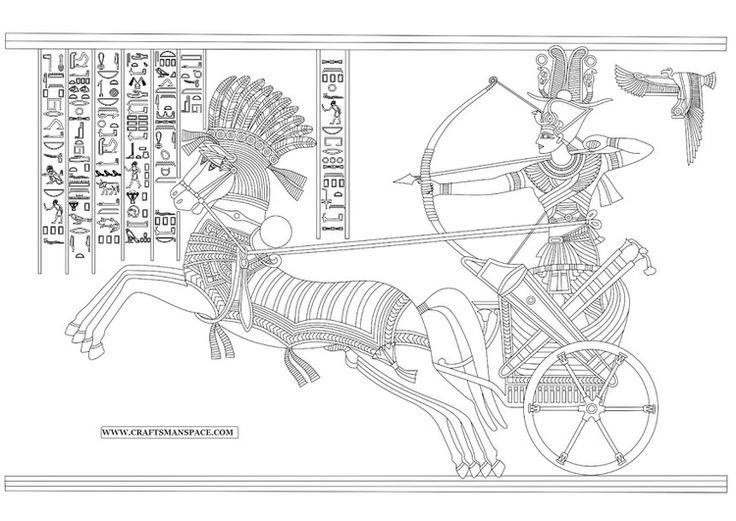 Coloring page Ramesses II - Battle of Kadesh