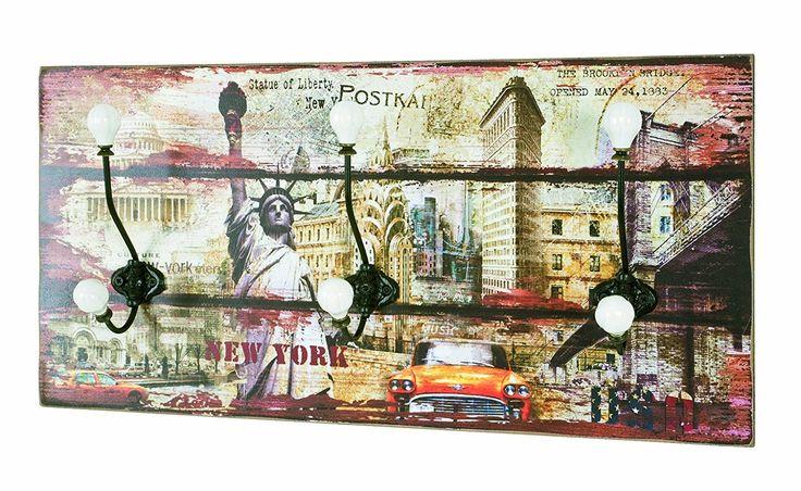 Haku Möbel 42904 Perchero De Pared DM / Metal / Cerámica Multicolor 12 x 60 x 30 cm: Amazon.es: Hogar