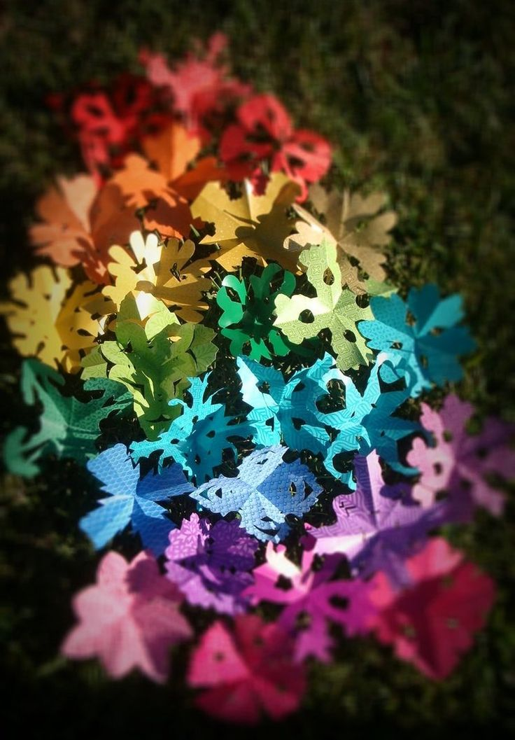 Rainbow colored paper butterflies totally cute craft! Follow me plz! Tnx!
