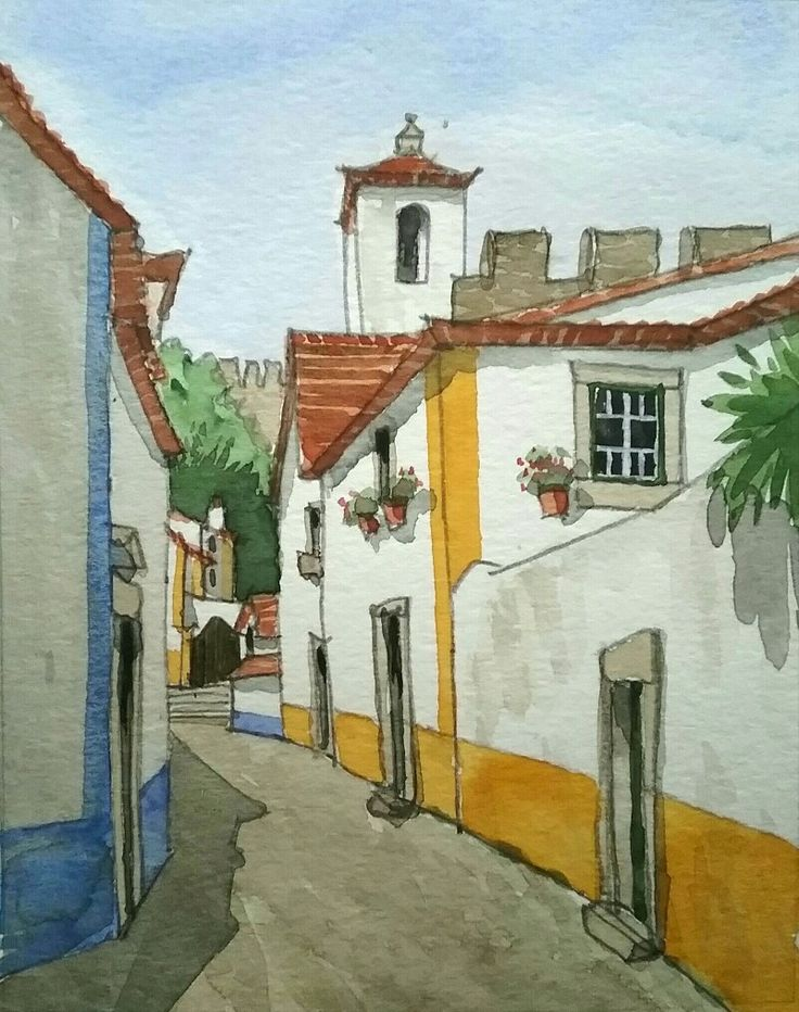 Óbidos - watercolour - Daniel