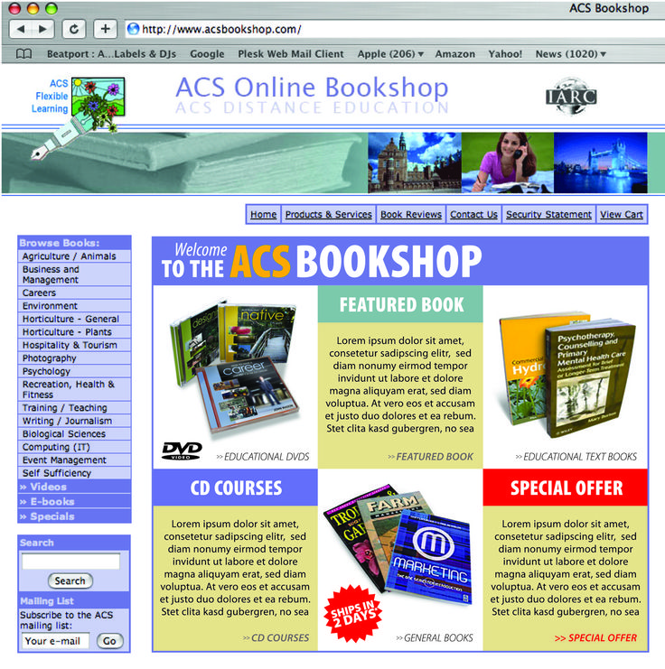 Our Online Bookshop in 2006