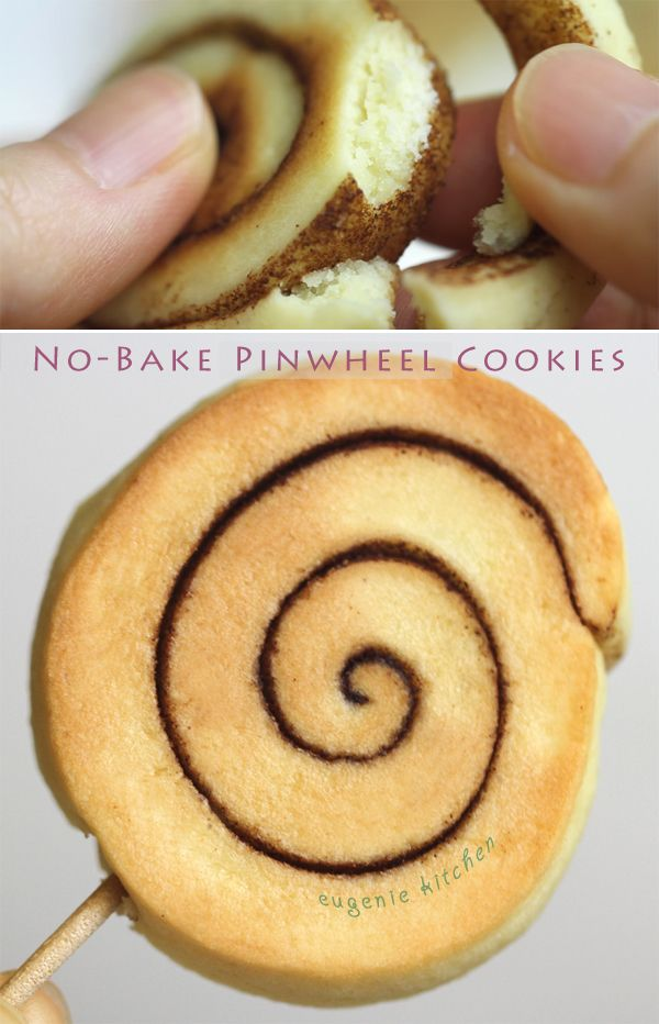 No-Bake Pinwheel Cookie Recipe - No-Oven, Stovetop - Eugenie Kitchen