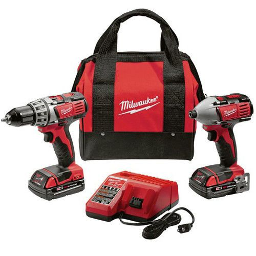 Milwaukee-2691-22-M18-18V-Cordless-Drill-Driver-High-Performance-Combo-Kit-New