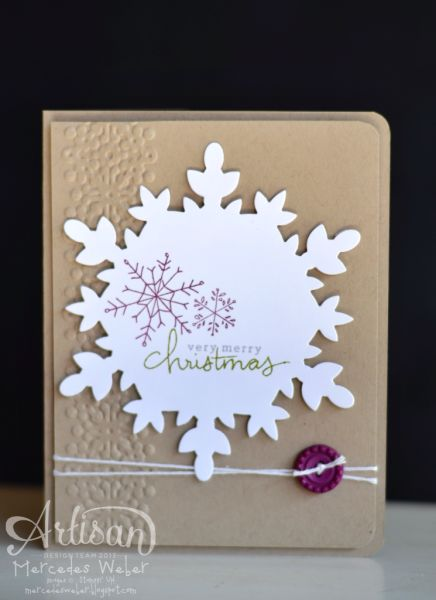 Endless Wishes Simple Snowflake - good idea using the snowflake die cut