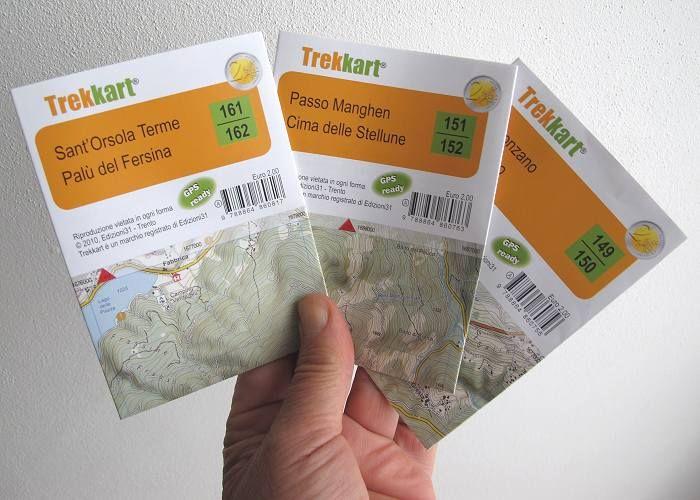 Le nuove, ottime mappe #Trekkart in scala 1:25.000 coprono tutto il #Trentino. Comprabili in foglio singolo tascabile (sta nel taschino di una camicia) o in cofanetto con la cartografia completa di 99 tavolette. Disponibile anche un pratico atlante. Completamente gratis la app e la cartografia per smartphone! ● http://girovagandoinmontagna.com/blog/2013/03/25/le-nuove-mappe-trekkart/