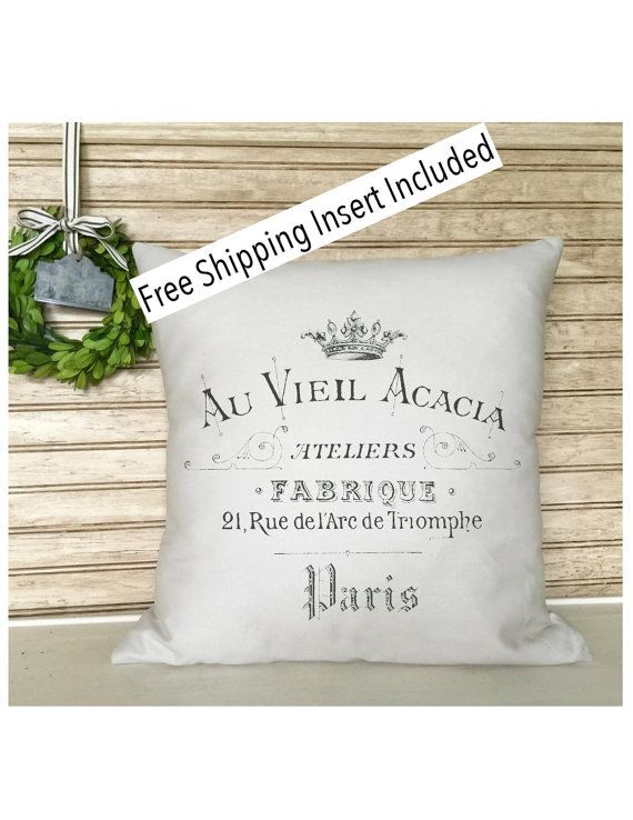 French Rustic Decor  Throw Pillow  French by SimplyFrenchMarket