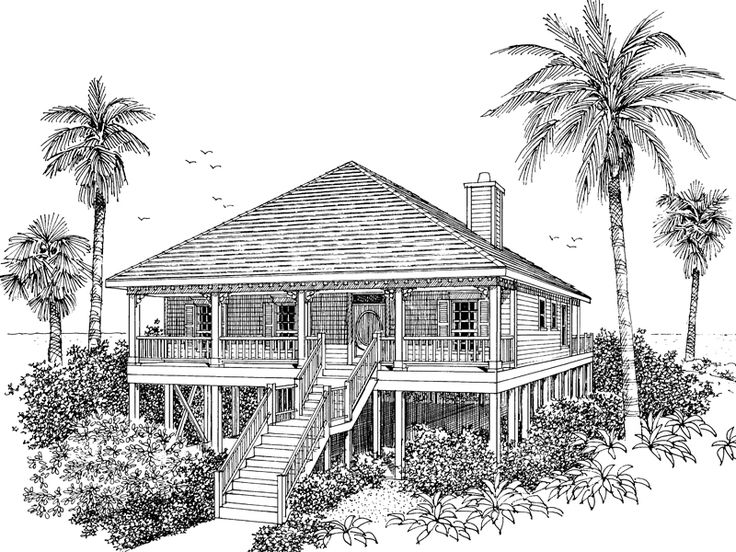 7 best beach house plans images on pinterest | beach house plans