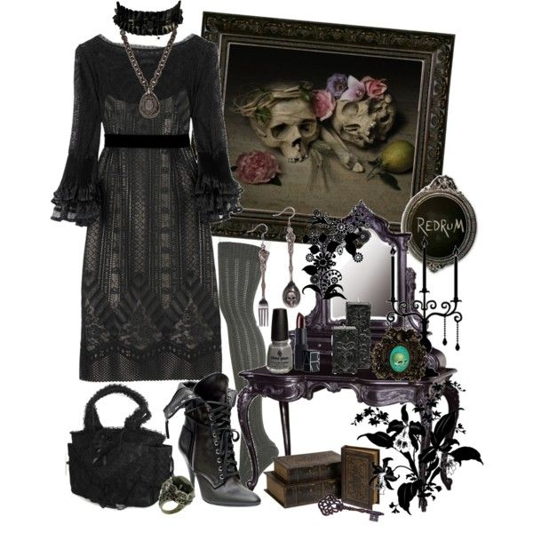 """""""Dark Victoria"""" by cyanideteaparty on Polyvore"""