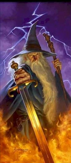 """GANDALF """"From the lowest dungeon to the highest peak, I fought him, the Balrog of Morgoth. Until at last, I threw down my enemy and smote his ruin upon the mountainside. Darkness took me. And I strayed out of thought and time. Stars wheeled overhead and each day was as long as a life age of the earth. But it was not the end. I felt life in me again. I've been sent back until my task is done."""""""