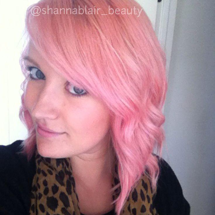Instagram Shannablair Beauty Pastel Pink Peach Hair