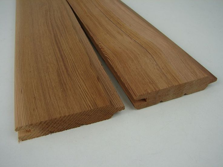 6 Profilbretter Western Red Cedar 1794x100x17mm Zedernholz Zeder Profilholz Holz