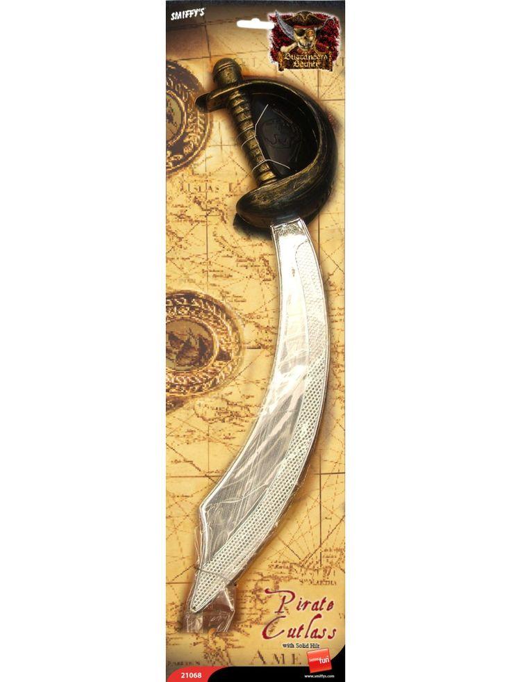 Merirosvon miekka ja silmälappu.