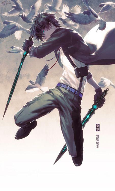 Boy assasino anime espada dupla