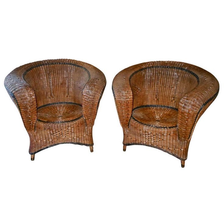 Pair of 19th Century Wicker Chairs 11