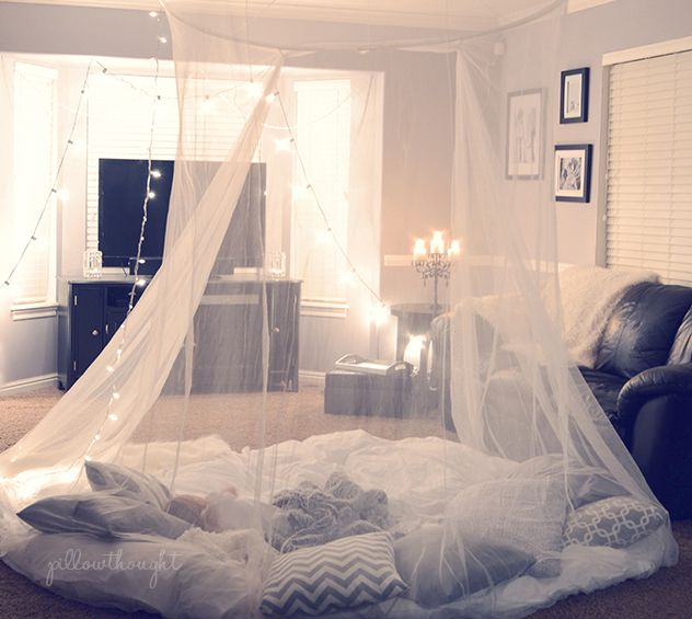 Family Fort Night Such A Cute Idea I Must Make That Canopy The Living Room Pinterest