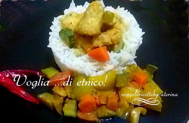 Riso Basmati con pesce e verdure