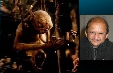 Kiran Shah played all five hobbits in LOTR, and the goblin scribe in the Hobbit.