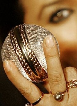 diamond-cricket-ball.  The balls are rounded out with 5,728 diamonds with an 18-carat gold stitch, making them worth USD 68,500.