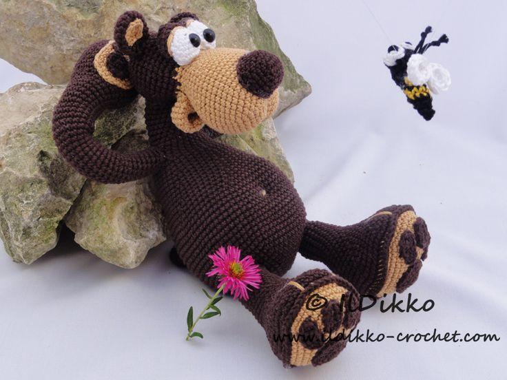 Bernard the Bear amigurumi pattern by IlDikko