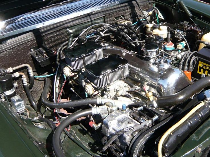 A Super Clean W114 Engine Bay With Polished Aluminum And A