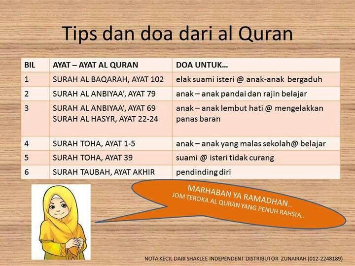 Tips & doa