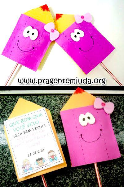Lembrancinhas - Lápis porta-pirulito - Dicas pra Mamãe