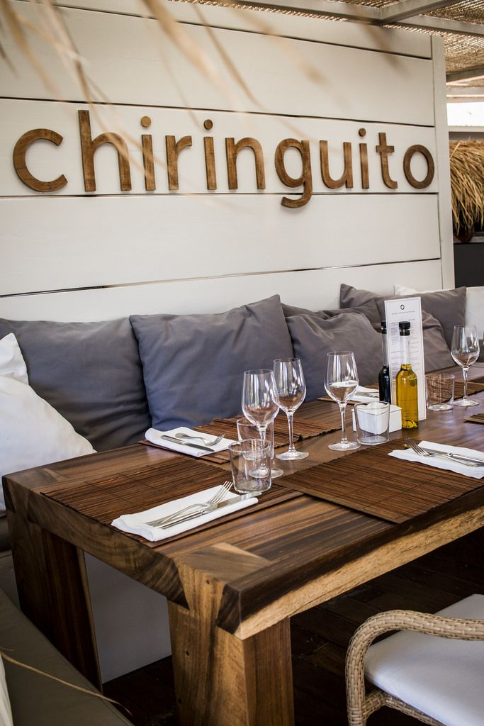 El Chiringuito, a chic Ibiza beach restaurant in total harmony with its natural surroundings.
