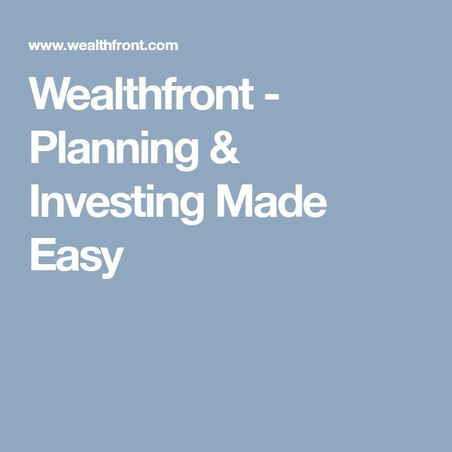 Wealthfront - Planning & Investing Made Easy