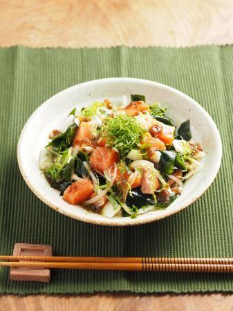 サーモンの海藻サラダ風17
