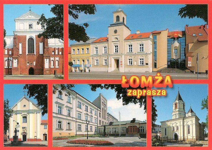 Pocztówkowe podróże po Polsce: ŁOMŻA