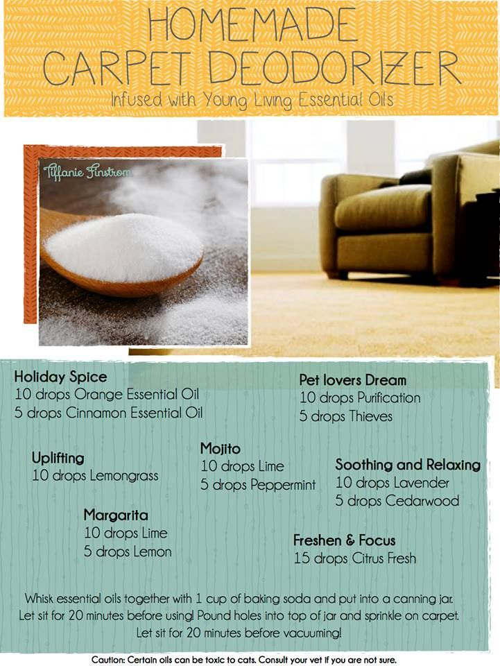 Young Living Essential Oils: Carpet Deodorizer.  For more info or to order www.EssentialOilsEnhanceHealth.com