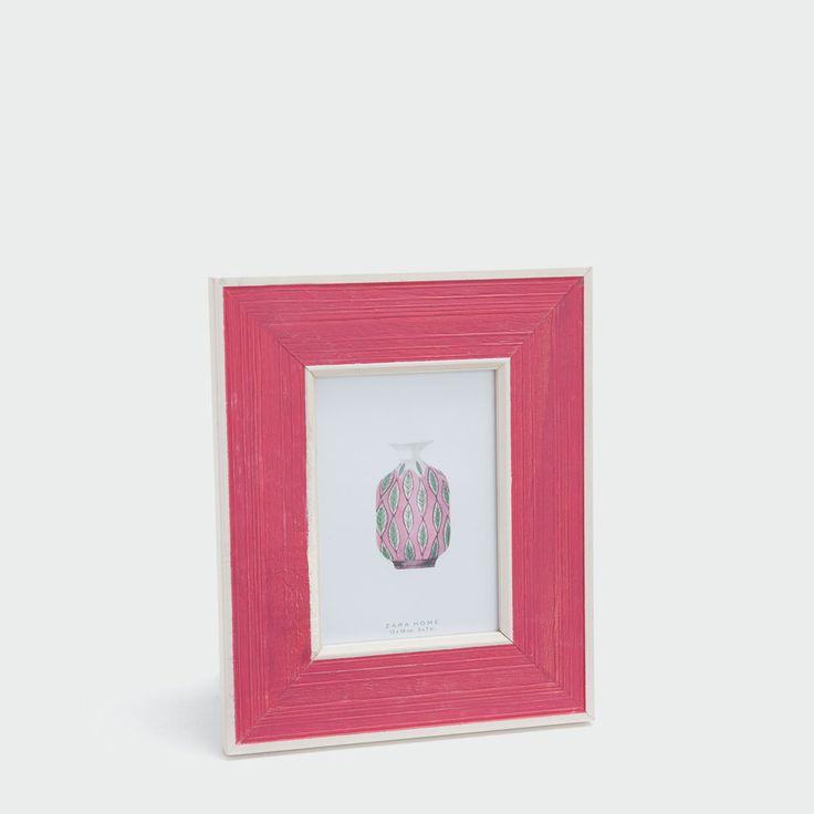 Εικόνα 1 του προϊόντος Ξύλινη κορνίζα σε ροζ και λευκό