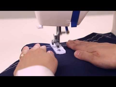 Een knoopsgat maken met de SY naaimachine/ Créez des boutonnières avec la machine à coudre SY - YouTube
