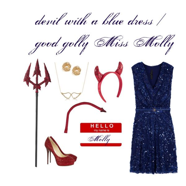 devil with a blue dress (Miss Molly) costume  halloween costume ...
