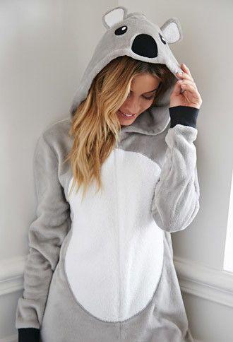 Koala Plush PJ Jumpsuit | Forever 21 - 2000141583