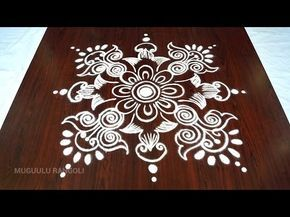 easy rangoli designs || big rangoli designs || best big rangoli || circle rangoli pattern - YouTube