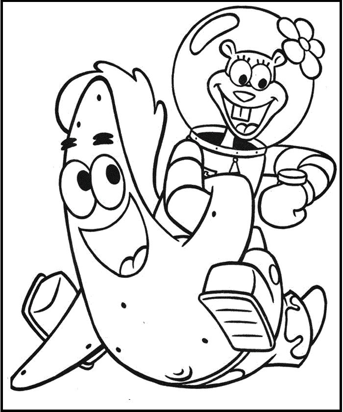coloring pages of sopngebob - photo#19