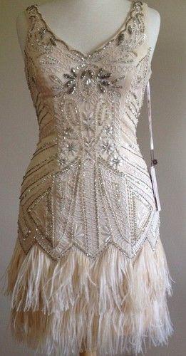 1920 style wedding dress calf length flapper - Google Search