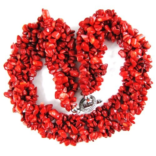 #Natural red coral chip bead #necklace $17.98 http://www.mysharedpage.com/natural-red-coral-chip-bead-necklace-18