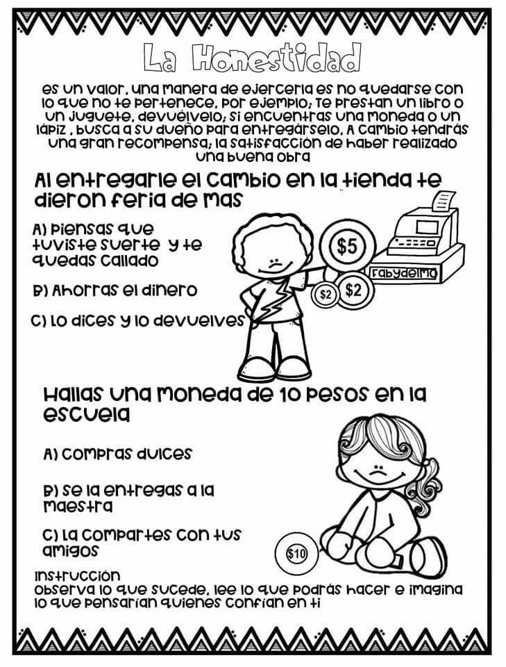 Pin De Perla En Desarrollo Personal Y Social Educacion De Valores Manualidades De La Biblia Para Ninos Dibujos De Los Valores