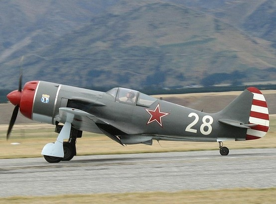 The Lavochkin La-9 was a Soviet fighter aircraft produced shortly after World War II. It was a piston engined aircraft produced at the start of the jet age. The first prototype, designated La-130 was finished in 1946. Similarity to the famous Lavochkin La-7 was only superficial – the new fighter had all-metal construction and a laminar flow wing.